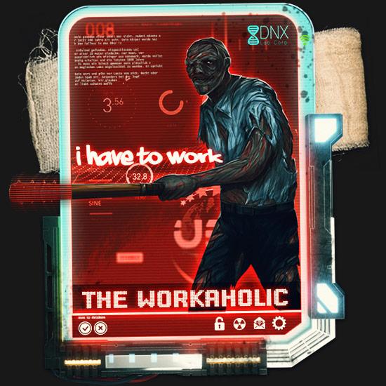 Workaholic Mutant im Zombie Survival Brettspiel