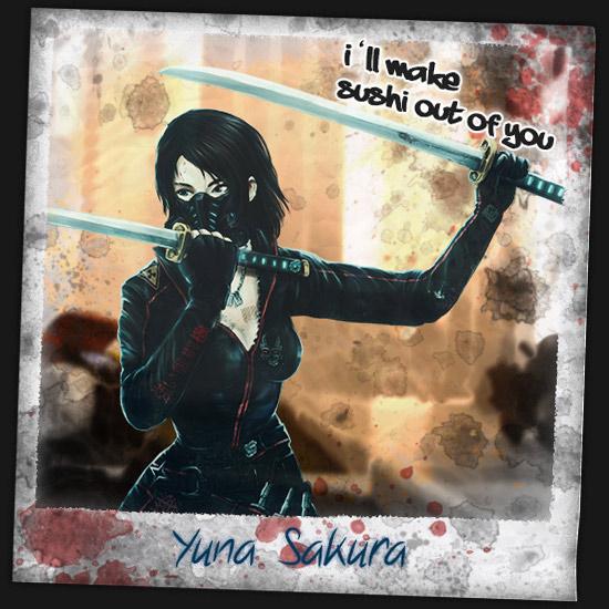 Yuna die Ninja Frau im Zombie Survival Brettspiel
